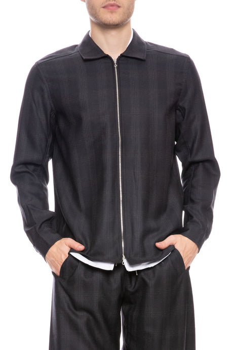 Delon Virgin Wool Zipped Shirt