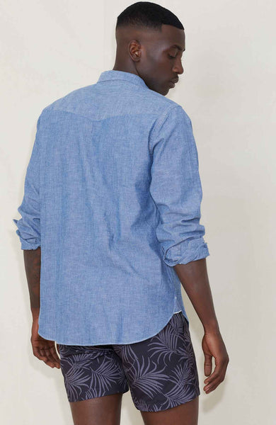OFFICINE GENERALE Japanese Selvedge Chambray Shirt