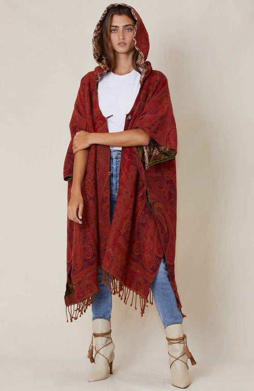ROYAL CRACK Vintage Poncho
