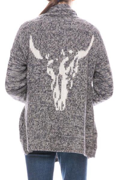 Holly Animal Skull Cardigan