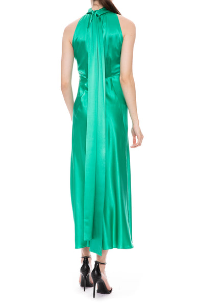 Michelle Silk Halter Dress
