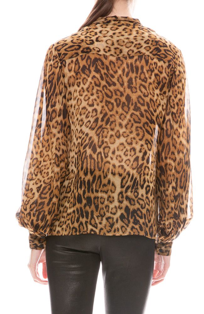 Evelyn Leopard Blouse