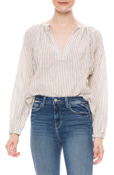 Brooke Pinstriped Top