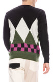 Diamond Check Mohair Sweater