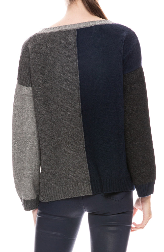 Multi Panel Cashmere Sweater