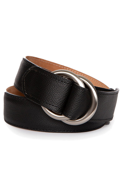 Pebbled Calf Belt with O Ring