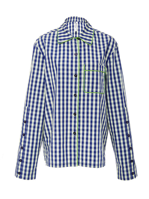 Cotton Gingham Pajama Shirt