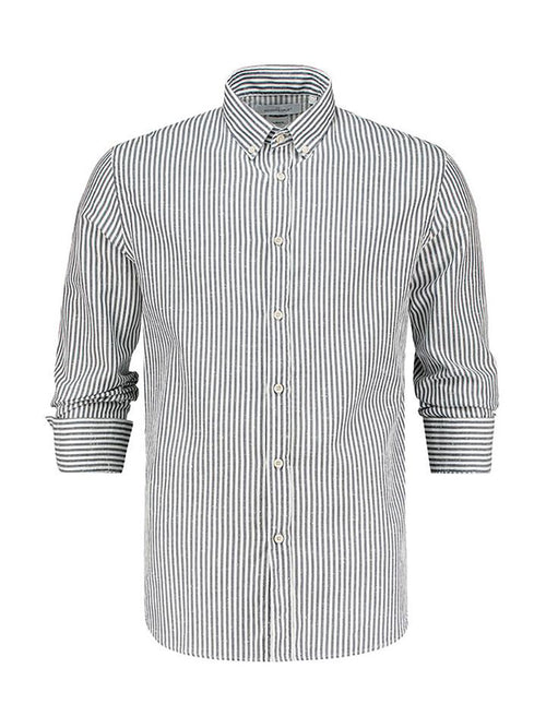 Airplane Striped Button Down Shirt