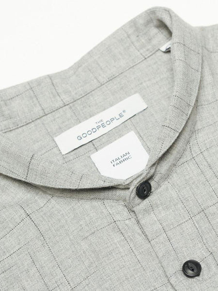 Helicopter Optical Check Melange Twill Shirt