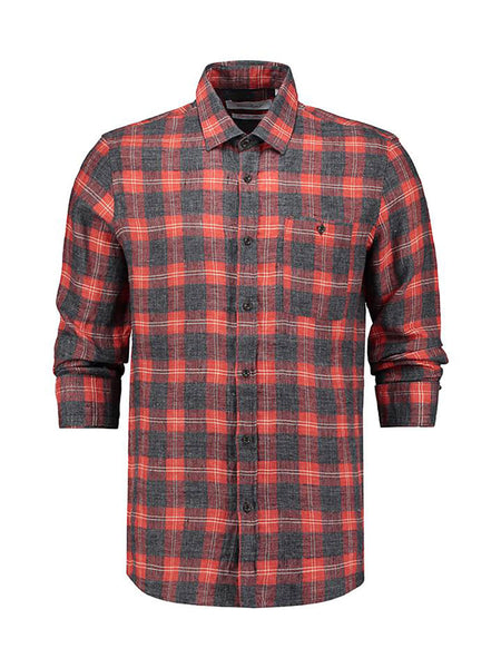 Seat Linen Flannel Check Shirt