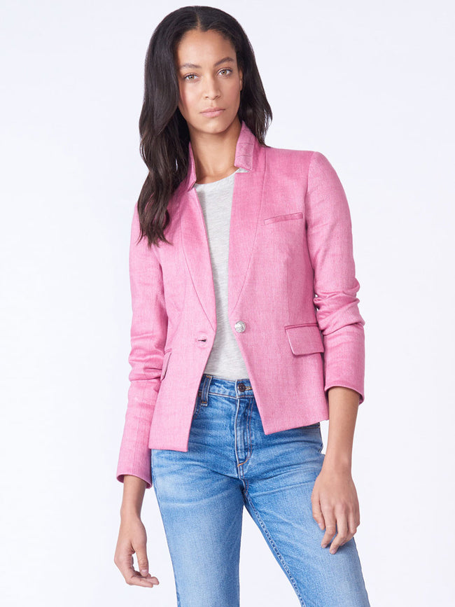 Orchid Linen Dickey Jacket