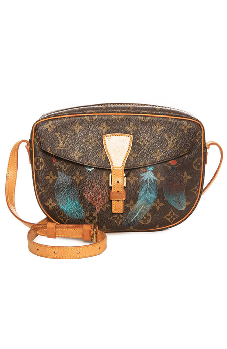 Vintage LV Jeune Fille Feathers Crossbody Bag