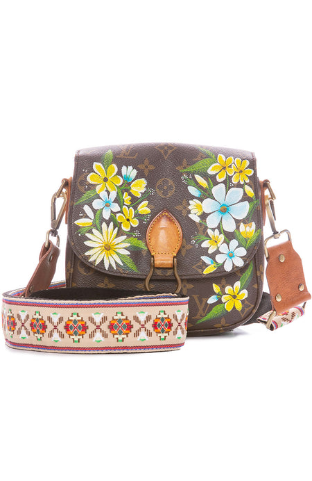 Vintage LV Saint Cloud MM Yellow Garden Crossbody Bag