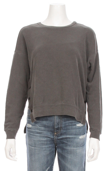 Snap Button Pullover Sweatshirt