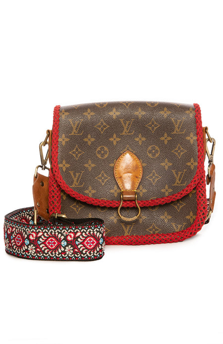 Vintage LV Saint Cloud GM Red Braid Crossbody Bag