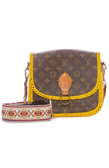 Vintage LV Saint Cloud GM Yellow Braid Crossbody Bag
