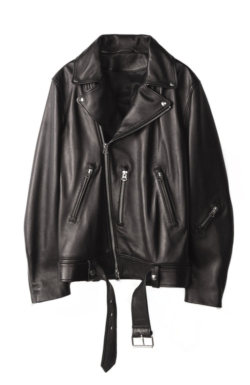 Nate Leather Biker Jacket