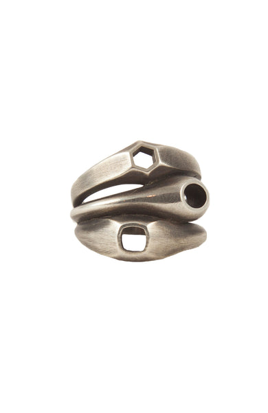 M. Cohen Mens Eclipse Ring in Silver