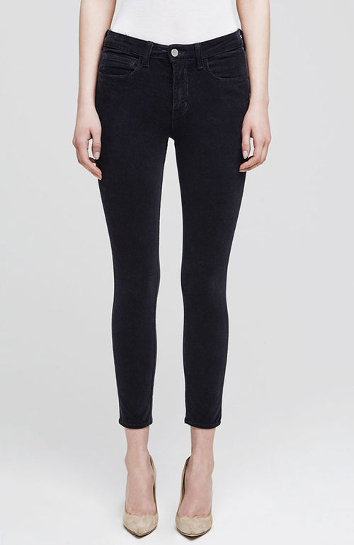 The Margot Corduroy High Rise Skinny in Charcoal