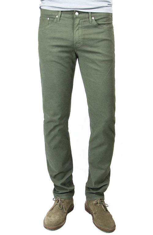 Hunter Twill Slim Straight in Dark Moss