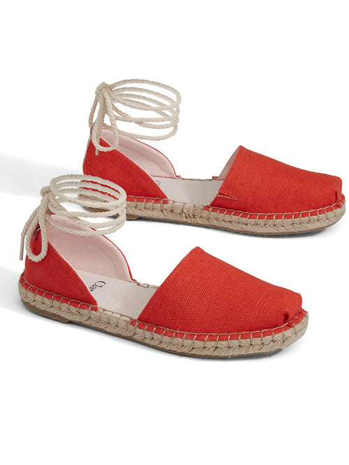 Red Heritage Canvas Katalina Espadrilles