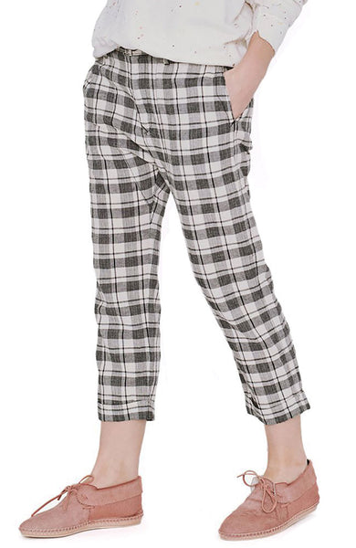 The Saddle Trouser in Windmill Plaid