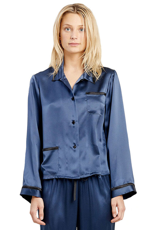 Ruthie Silk PJ Top
