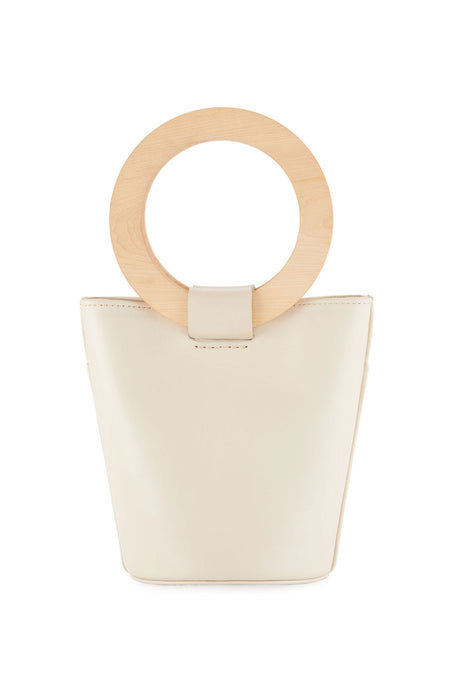 Mini Wood Circle Handle Bucket Bag