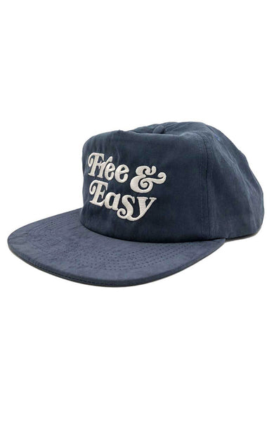 Free & Easy Peach Fuzz Hat in Navy