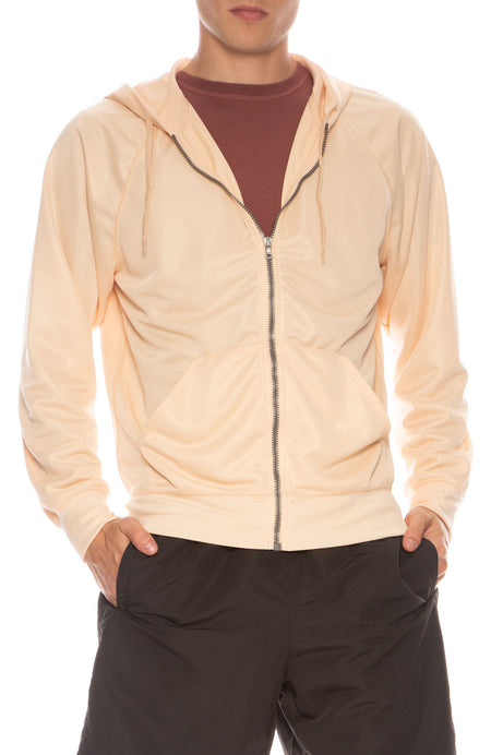 Stiff Poly Zip-Up