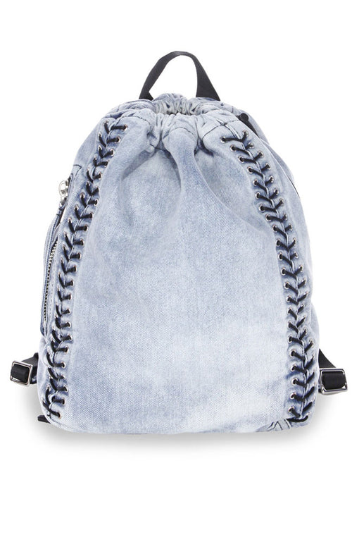 Denim Eyelet Lacing Go Go Knapsack