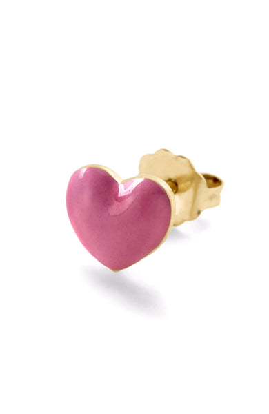 Pink Heart Stud