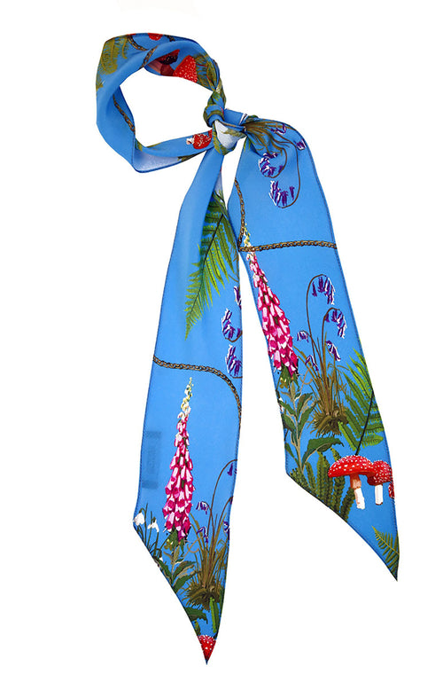 Blue Magic Meadow Super Skinny Scarf