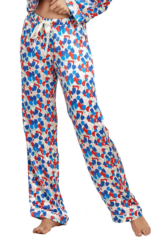 Chantal Painted Tulip Silk PJ Pant