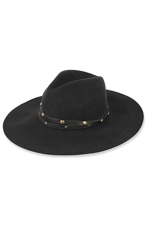 Studded Wool Felt Fedora Hat