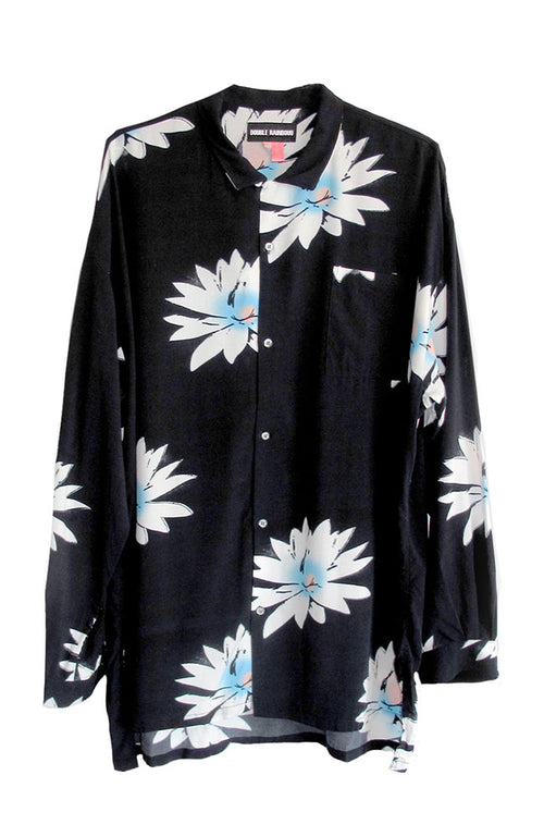 Long Sleeve Hawaiian Shirt in Glossy Possy