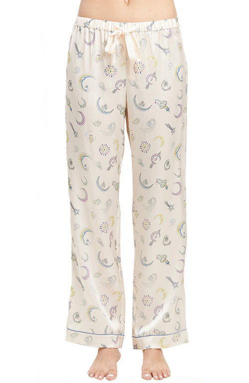 Chantal Moon Jewels Silk PJ Pant