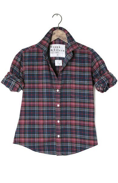 Womens Barry Italian Flannel Plaid Shirt