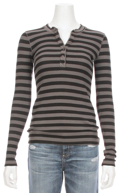 Striped Thermal Henley
