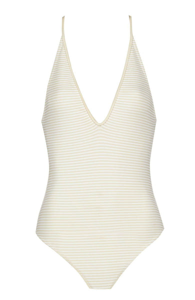 Harbour Island Maillot in Seta Panna