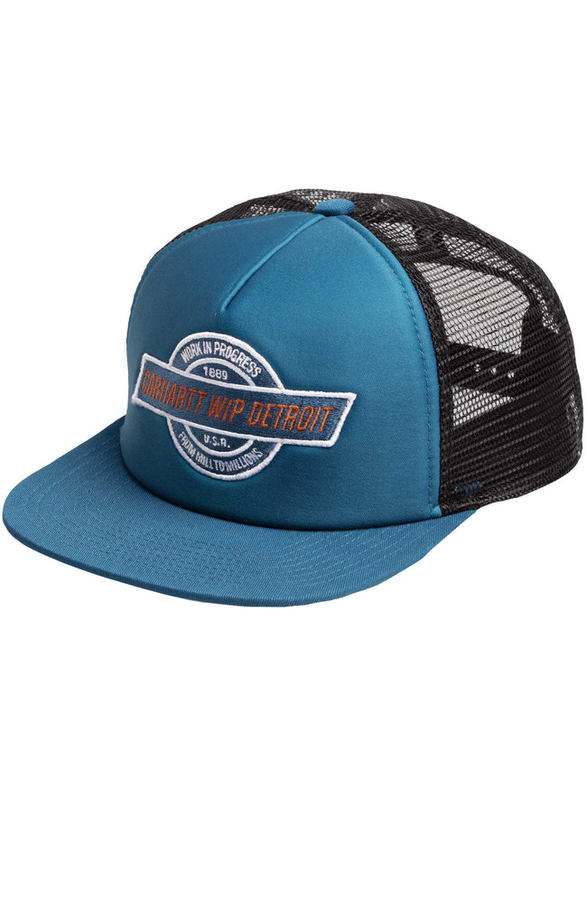 Carhartt WIP Mens Detroit Trucker Hat in Corse Blue / Black at Ron Herman
