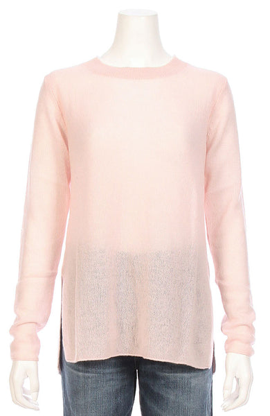 Featherweight Side Slit Cashmere Sweater