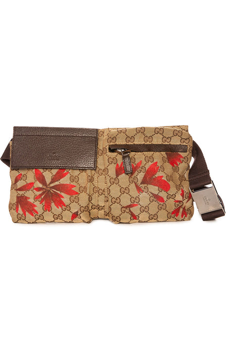 Vintage Gucci Red Floral Fanny Pack
