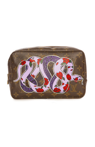 New Vintage Louis Vuitton Trosse Toilette 23 Snake Travel Pouch at Ron Herman