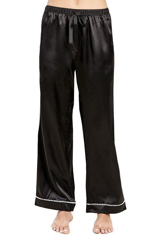 Chantal Metallic Ornament Silk PJ Pant