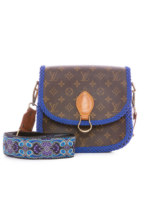 Vintage LV Saint Cloud GM Blue Braid Crossbody Bag