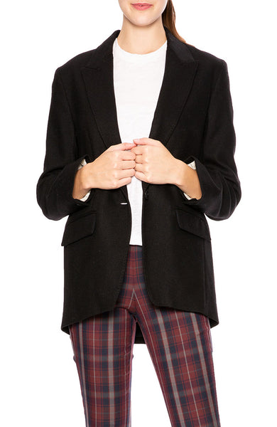 Rag & Bone Monty Wool Blazer with Notch Collar in Black at Ron Herman