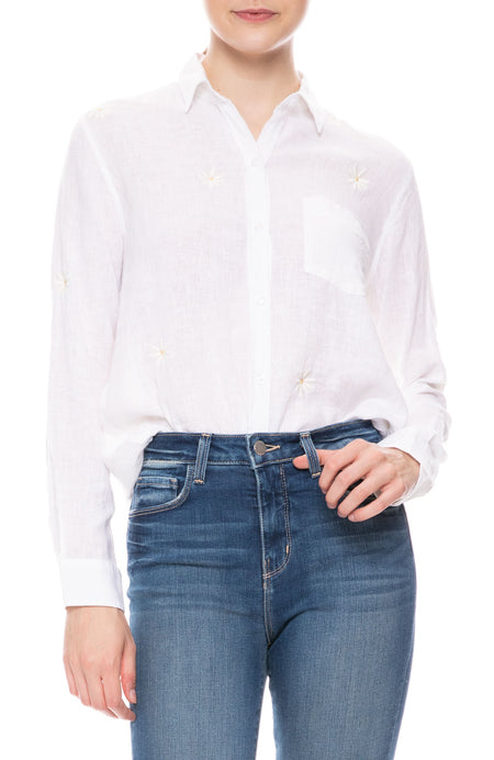 Charli Daisy Embroidered Shirt