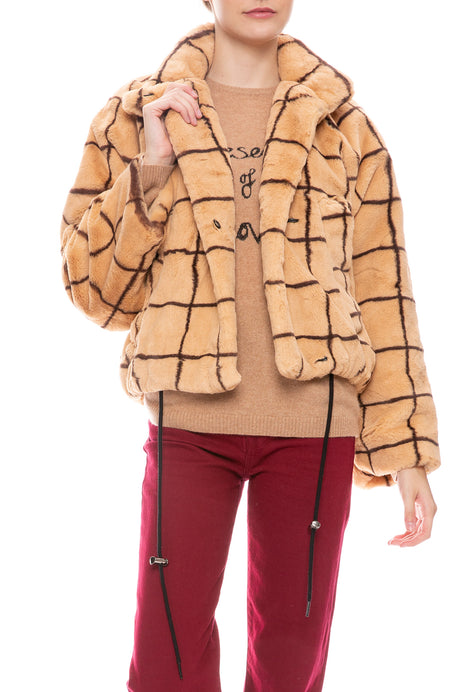Dina Faux Fur Crop Jacket