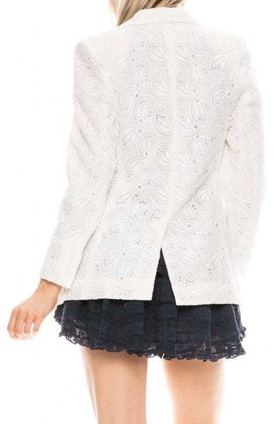 Embroidered Lace Double Breast Jacket